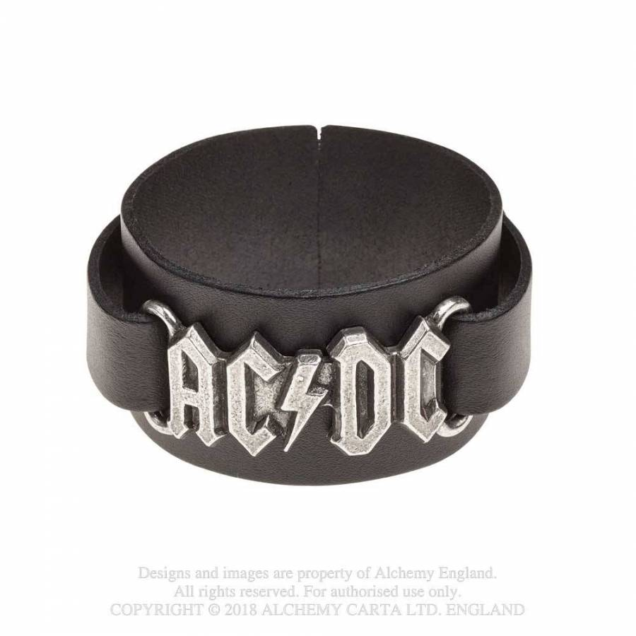 AC/DC // Logo Leather Wriststrap