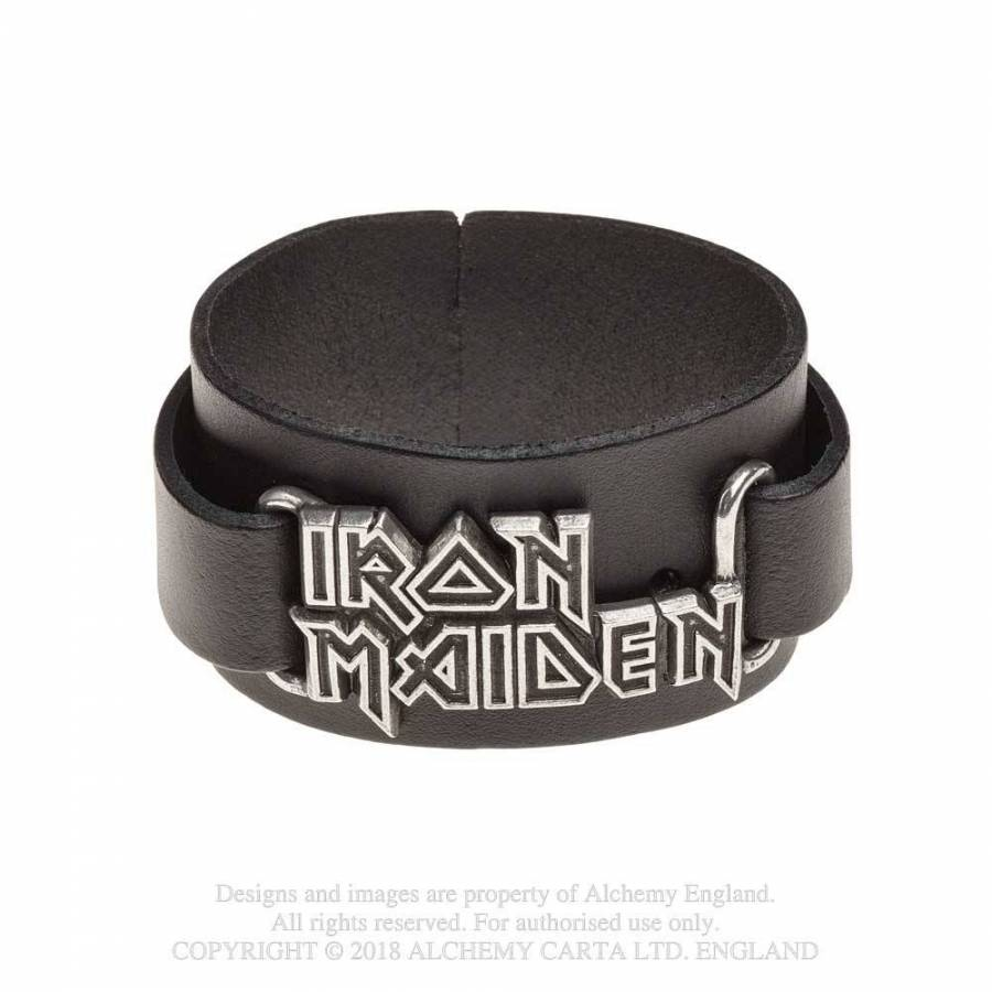 Iron Maiden // Logo Leather Wriststrap