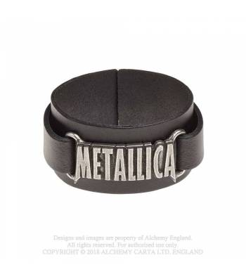 Metallica // Logo Leather Wriststrap