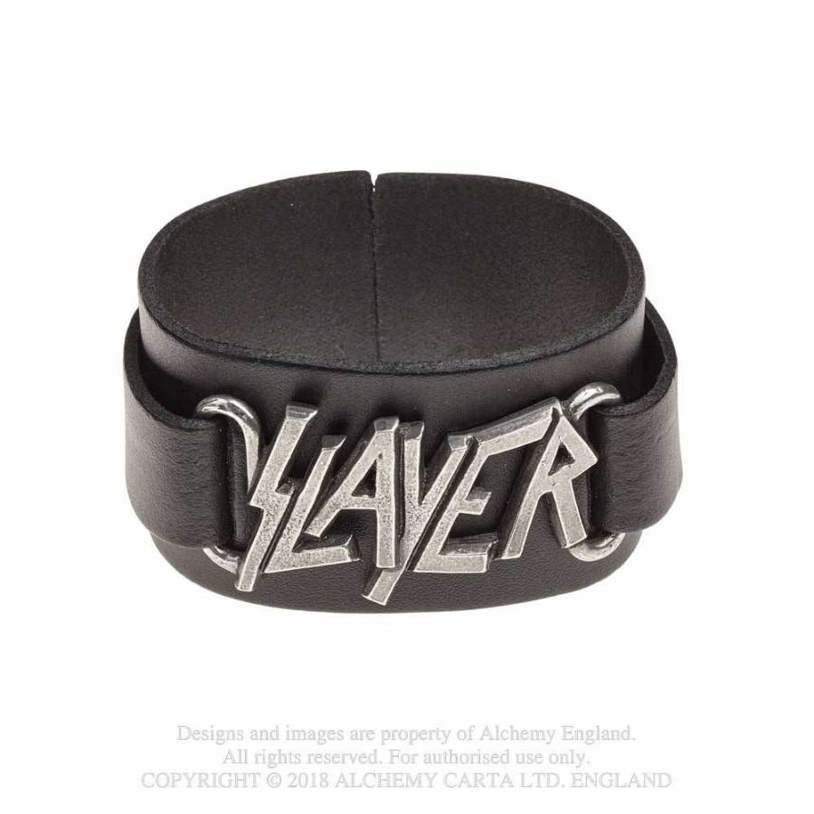 Slayer // Logo Leather Wriststrap