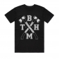 This Bring Me The Horizon features two axes crossing over each other with the BMTH acronym. White on black